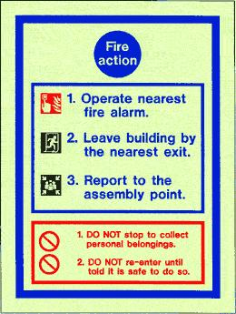 Fire Action Notice Sign - Available From Cherwell Fire Safety Limited
