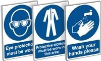 A Complete Range of Mandatory Signs delivered directly to your door FREE of charge Nationwide